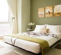 Dormitorio-verde-blanco